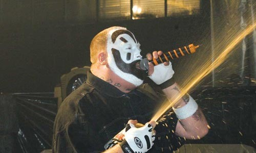 Violent J gets Faygo everywhere. - HEATHER MULL
