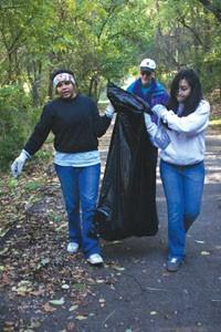 Volunteers clean up dumpsites in Hazelwood.