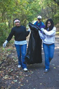 Volunteers clean up dumpsites in Hazelwood.