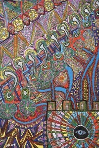 """""""We are its end product"""": Steve Kilbey's """"The Great Machine"""" (detail)."""