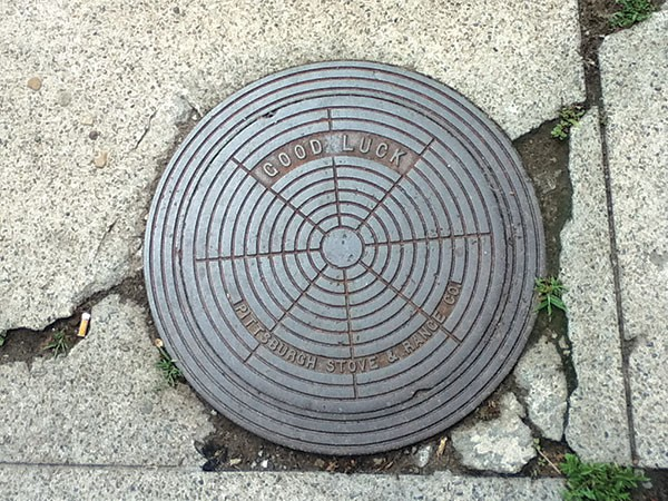 Well-wishing manhole covers