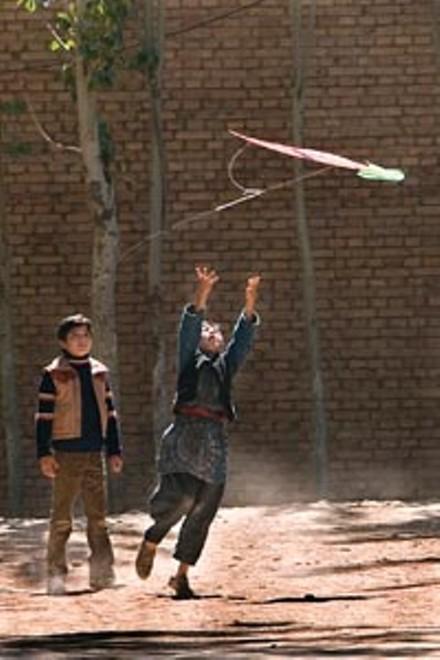 When the wind blows: Zekeria Ebrahimi (left) plays the young Amir and Ahmad Khan Mahmidzadah plays Hassan.