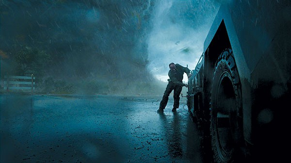 Wind shift: A storm chases a storm-chaser.
