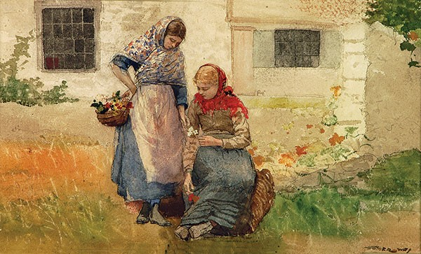 "Winslow Homer's ""Picking Flowers"""