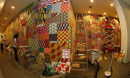 Work on Barry McGee's Installation - HEATHER MULL