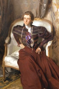 "You talking to me?: ""Mrs. Charles Thursby"" (ca. 1897--1898), by John Singer Sargent. Courtesy The Newark Museum."