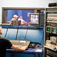 Yuriy Alexsandrov, a PCTV production coordinator, helps to produce cable access shows like Steel City Sports World