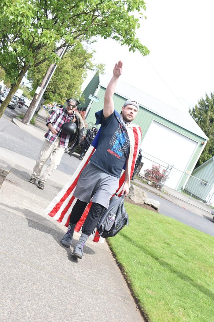 A Nazi salute