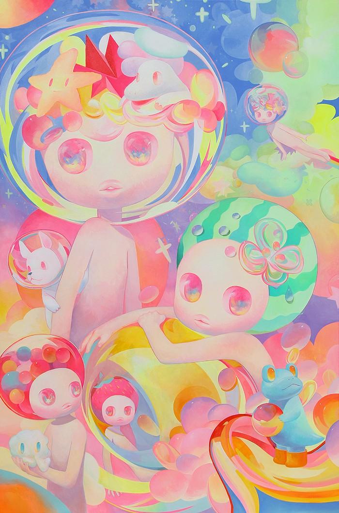 Between the Stars, 48 x 72, acrylic on canvas, 2014