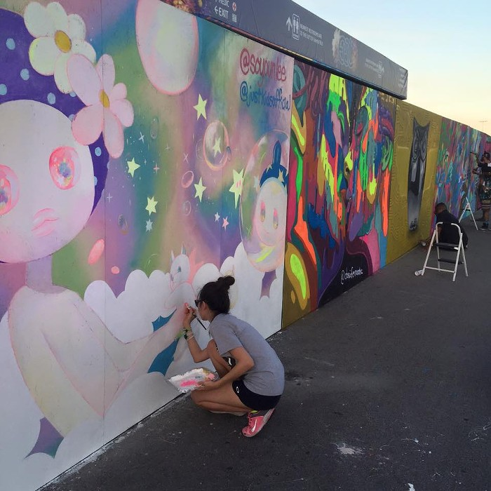 EDC 2015 Live Painting with Just Kids Official.