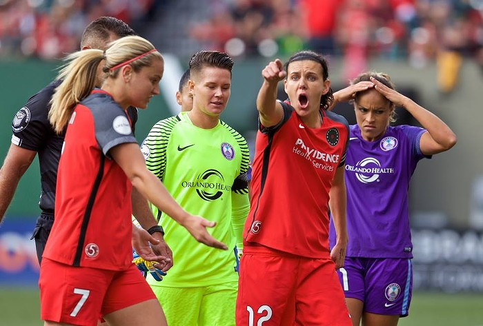 Christine Sinclair does not get angry- SHE GETS GOALS.