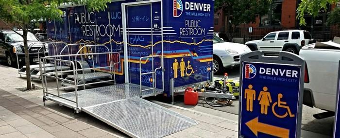 Heres what restroom trailers look like in Denver.