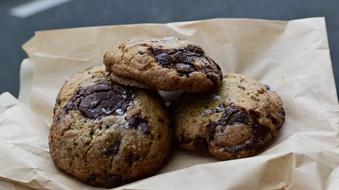 Chocolate chip cookies from Courier Coffee.