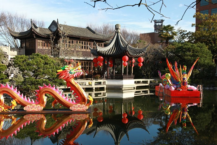 Its the last weekend to celebrate the Chinese New Year at Lan Su Garden with festival decorations, contact-free audio tours, mobile scavenger hunts, and educational displays.