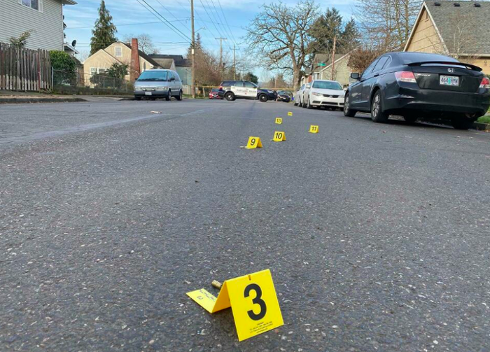 Crime scene following a March 2021 shooting in Portlands Portsmouth Neighborhood