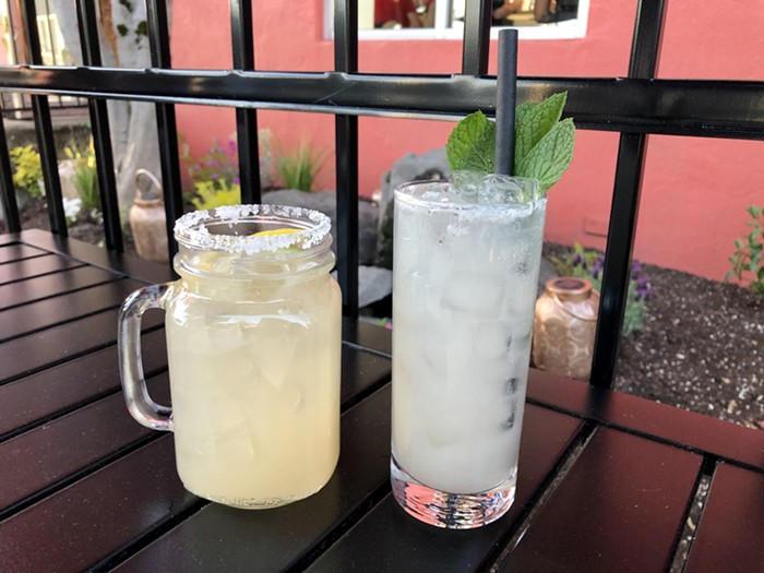 Okay, so I cheated this week and actually enjoyed these cocktails on the restaurant's patio