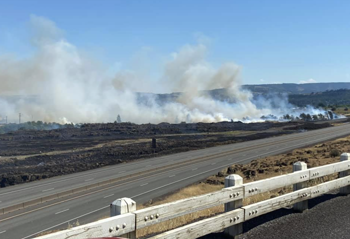 A wildfire near The Dalles caused evacuations yesterday.