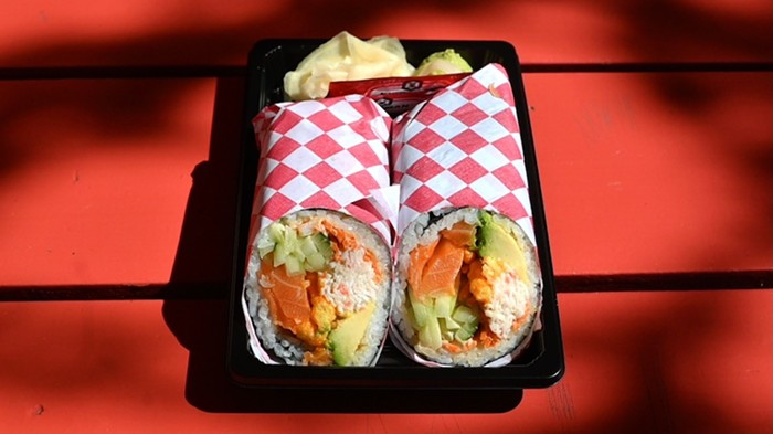 Salmon Sushi Burrito from Sushi Lover PDX