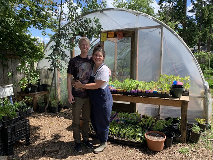 Wild Grown Farm was founded in 2015 by co-owners and husband and wife Shannon and Taylor Kane. They said that their farm connects hyper-locally with other urban farms, and there isn't a sense of competition.