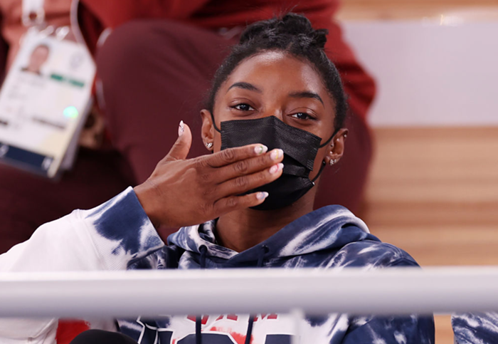 Olympian Simone Biles joins the athletes who are putting their mental health first.