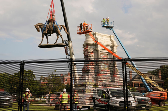 Virginias loathed statue of Confederate Gen. Robert E. Lee is finally (FINALLY!) taken down.