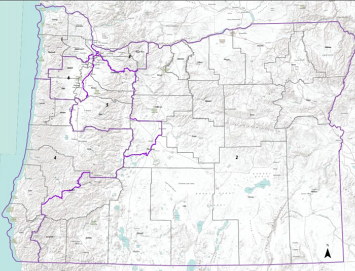 Oregon now has a new Congressional district map, with a sixth seat.