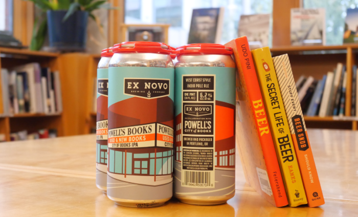Head down to Powells City of Books on Saturday to snag their limited edition beer collab with Ex Novo.
