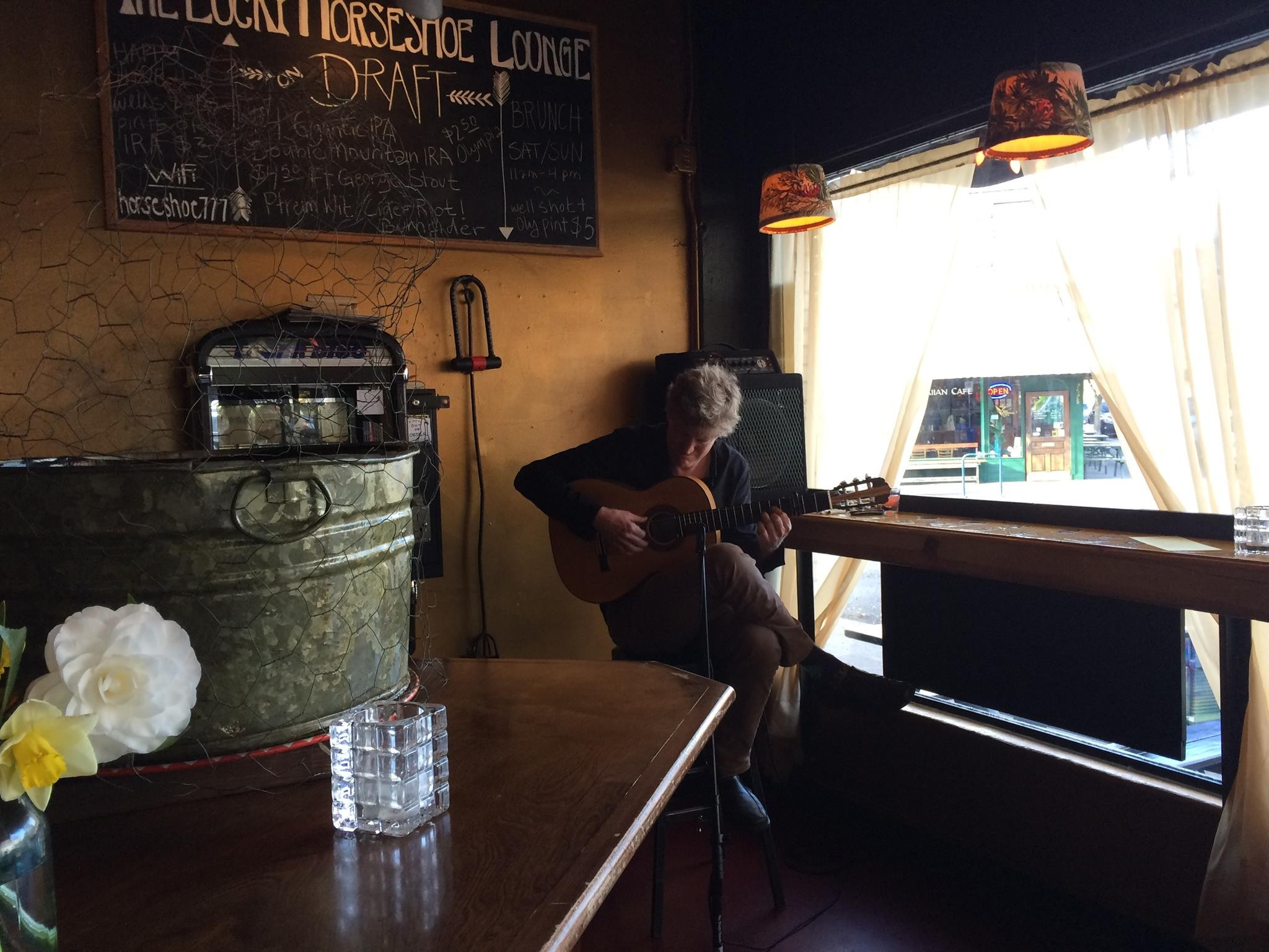 Jeffery Trapp At The Lucky Horseshoe Lounge In Portland Oregon On