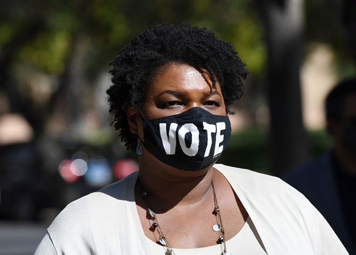 Republicans in Georgia and Arizona are pushing shitty anti-voting laws. Stacey Abrams has some suggestions for how you can help.