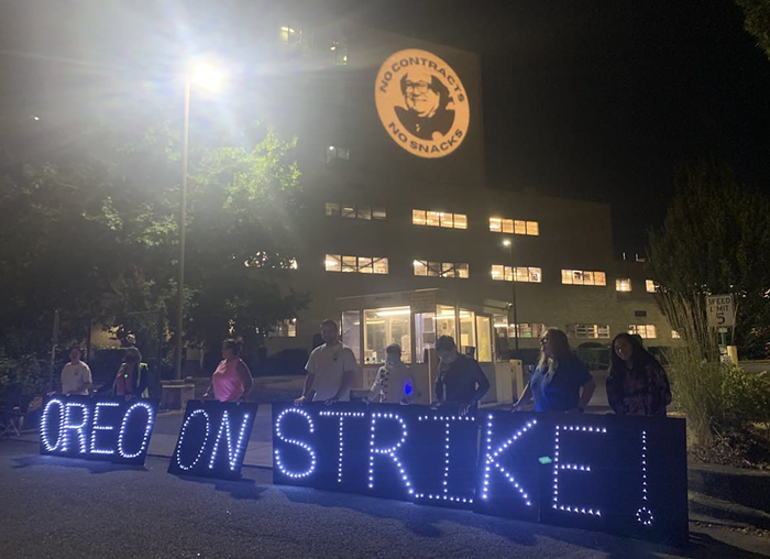Nabisco workers on strike get violent treatment from company security guards.