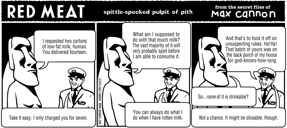 spittle-specked pulpit of pith