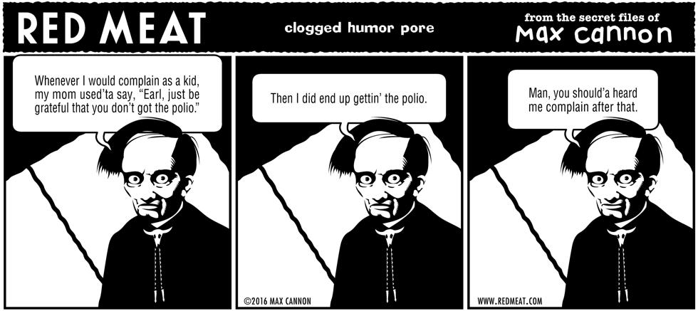 clogged humor pore