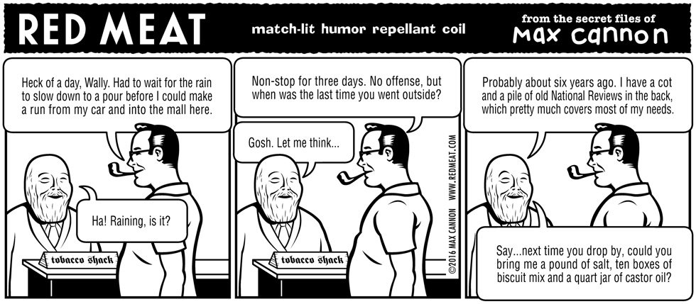 match-lit humor repellant coil
