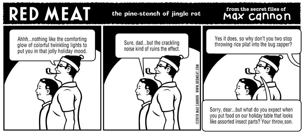 the pine-stench of jingle rot