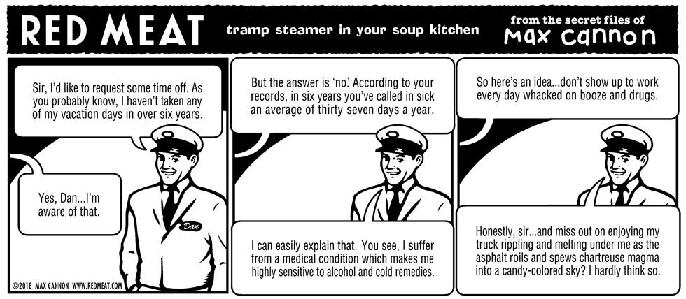 tramp steamer in your soup kitchen