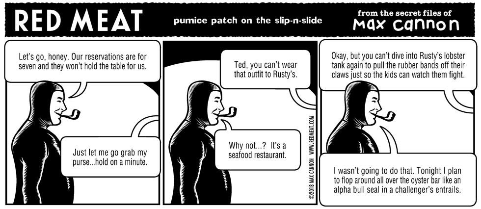 pumice patch on the slip-n-slide