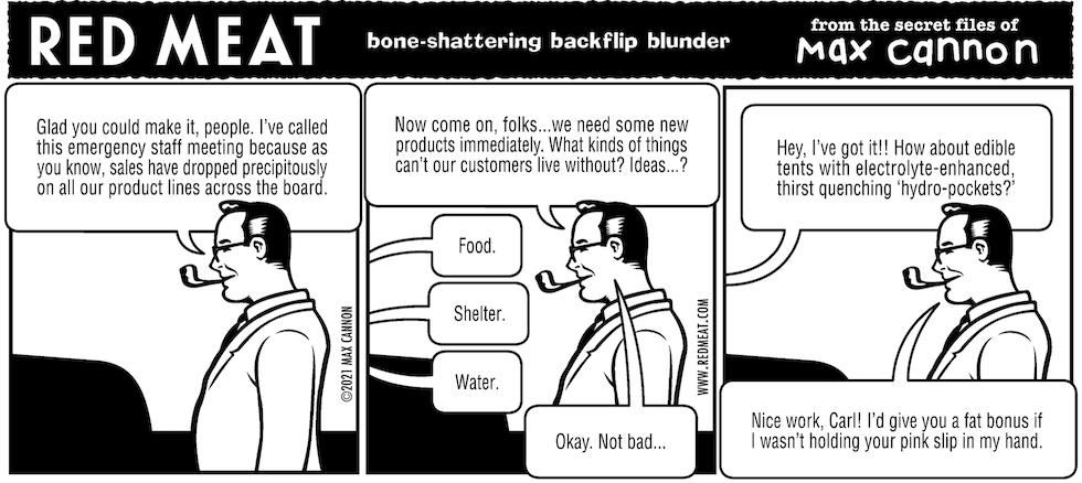 bone-shattering backflip blunder