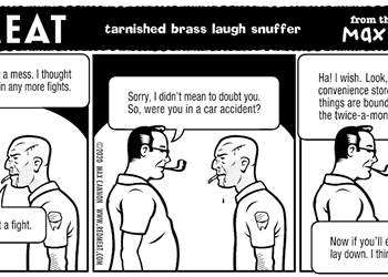tarnished brass laugh snuffer