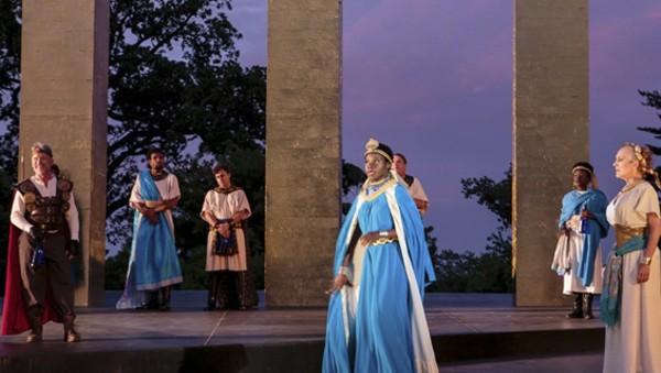 The cast of Antony and Cleopatra. - J DAVID LEVY