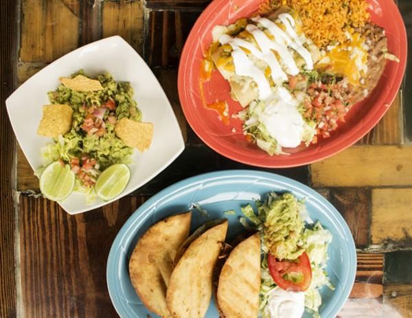 A sampling of El Burro Loco's Mexican fare. - MABEL SUEN