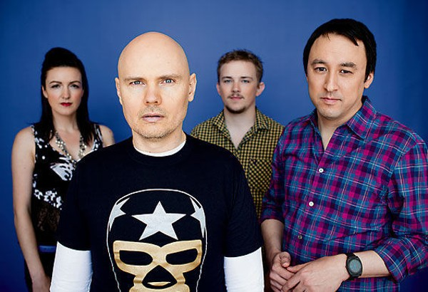 Billy Corgan (second from left), former rock star and current wrestling executive? - PHOTO BY PAUL ELLEDGE