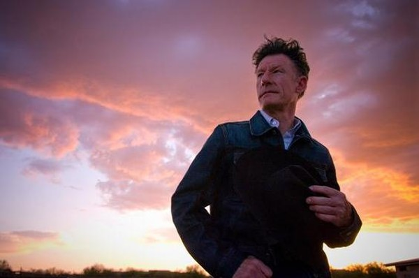Lyle Lovett, with a sunset. - COURTESY OF THE SHELDON