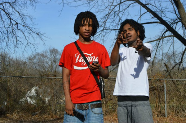 Swagg Huncho (left) and Lil Tay of 3 Problems, a North County St. Louis group whose popularity is suddenly snowballing. - PHOTO BY BEN WESTHOFF