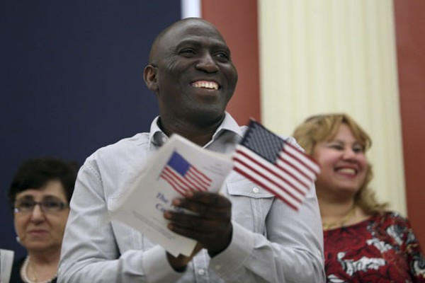 Adetola Olayefun, who became a U.S. citizen on June 12. - PHOTO BY SHELBY KARDELL