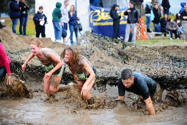Competitors in a California-based mud run get filthy for the prize. - PHOTO COURTESY OF FLICKR/PRESIDIO OF MONTEREY