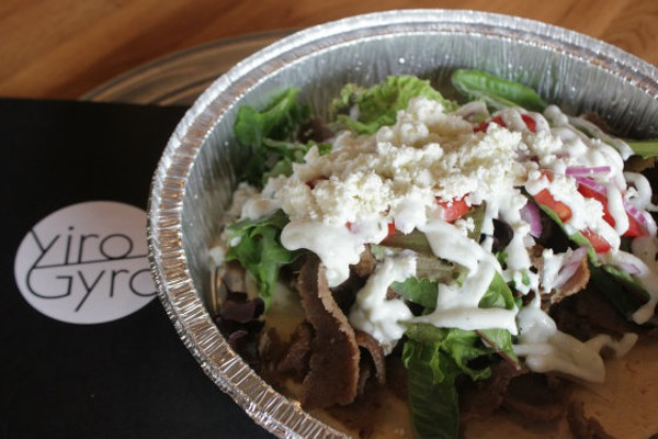 A make-your-own gyro lunch from Yiro/Gyro (750 Locust Street). - EMILY MCCARTER