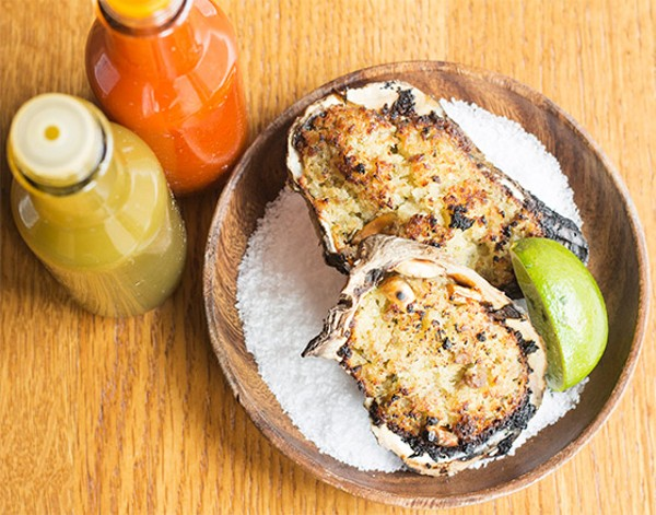 Grilled oysters. - MABEL SUEN