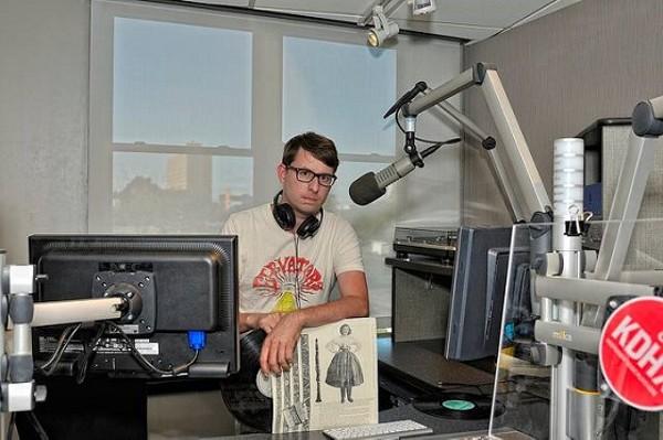 Chris Ward, broadcasting from KDHX - SARA A. FINKE