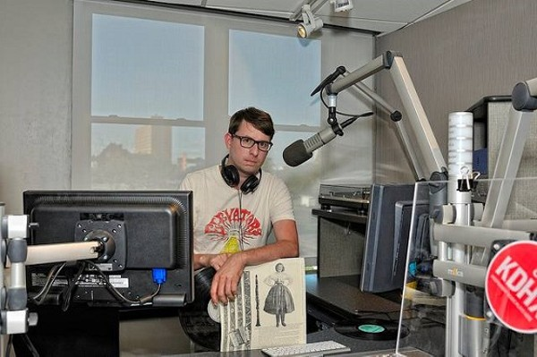 Chris Ward, broadcasting from KDHX - SARA A. FINKE