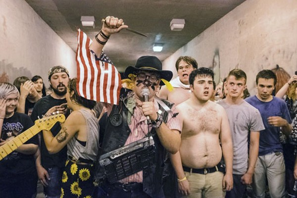 Austin Nitsua (center), Acid Kat founder, performing with Animal Teeth. - MADDIE REHAYEM